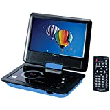 Craig CTFT713 180° Swivel Screen 9' Portable DVD Player w/SD Card Slot - Blue