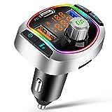 Transmetteur FM Bluetooth 5.0 Adaptateur Radio Lecteur MP3 sans Fil Kit...
