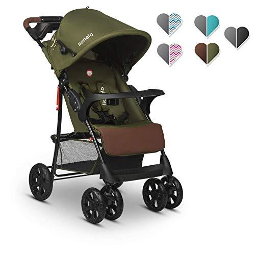 Lionelo Emma Plus Kinderwagen Kindersportwagen leicht modern klein Buggy mit Liegeposition zusammenklappbar (Forest Green)