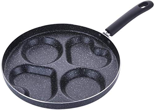 FANDE Padella 4 unit Pancake per Gas Fornello Cucina Forniture Lega di Alluminio Pentole Antiaderente Multifunzione Manico Lungo Bistecca per Uova, Pancake, Bistecca - 24 cm