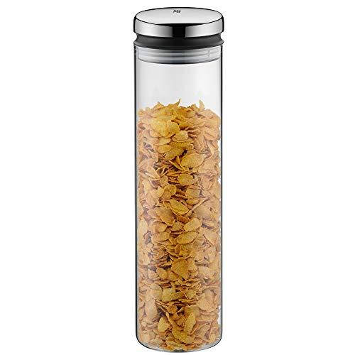 WMF Depot Vorratsdose Glas 2,0l, Höhe 36 cm, Vorratsglas mit Deckel, Kaffeebohnen Behälter, Müslidose, Frischhaltedose mit große Einfüllöffnung