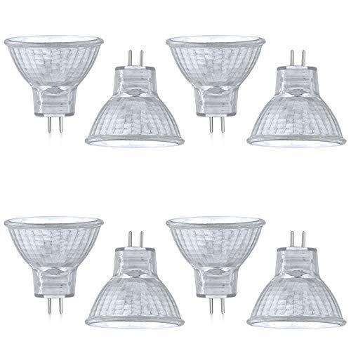Luxvista Lampada Alogena MR11 GU4/G4 20W, AC/DC 12-24V Riflettore Alogena di Bianco Caldo 2800k, 30...