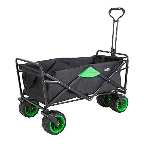 Umi. Essentials Bollerwagen Handwagen Gartenwagen Strandwagen Faltbar Transportwagen für Alle Gelände Geeignet