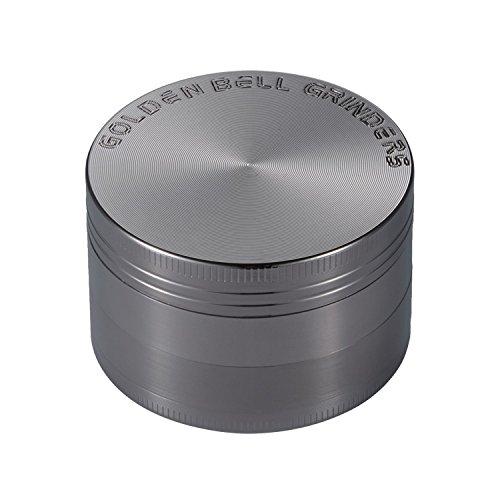 LIHAO 2' Grinder Metálico para Hierbas y Especias en Hogar(4 Piezas de 5cm)(Níquel Negro)