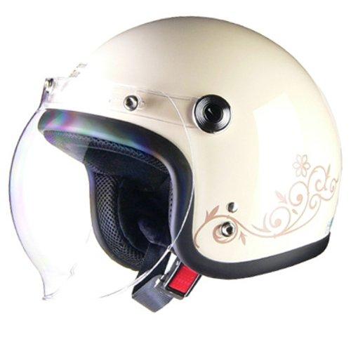 リード工業(LEAD) バイクヘルメット ジェット Street Alice スモールローアイボリー レディース QP-2 -