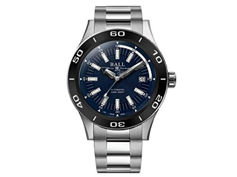 Ball Fireman NECC Automatic Watch, Ball RR1103, Blue, 42mm, Steel Bracelet