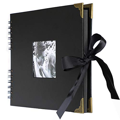 anaoo Album Fotografico Regali di Valentin per lei, lui, scatola regalo,Vintage fai da te Fotografico carta adesiva album libro ospiti matrimonio Regalo Compleanno amore, coppia, donne, mamma