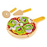 Hape Homemade Wooden Pizza Play Kitchen Food Set and Accessories Multicolor, 3 years and up