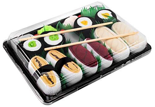 Rainbow Socks - Donna Uomo Calzini Sushi Tamago Tonno Butterfish 2x Maki - 5 Paia - Taglia 36-40