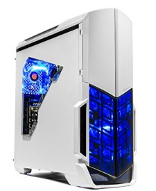 [Ryzen & GTX 1050 Ti Edition] SkyTech Archangel Gaming Computer Desktop PC Ryzen 1200 3.1GHz Quad-Core, GTX 1050 Ti 4GB, 8GB DDR4 2400, 1TB HDD, 24X DVD, Wi-Fi USB, Windows 10 Home 64-bit