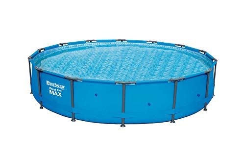 Bestway 56597E Pro MAX Above Ground, 14ft x 33in | Steel Frame Round Pool Set | No Tools Required