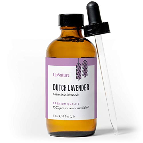 Lavender Essential Oil 4 OZ - Pure, Undiluted, Unfiltered, Non-GMO - Reduces Stress & Anxiety - Get Better Sleep - Aromatherapy - Anti-inflammatory - Relieves Headaches - With Dropper by UpNature