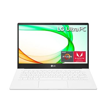 "LG Ultra PC 13U70P - 13"" Full HD (1920x1080) IPS Ultra-Lightweight Laptop, Ryzen 7 4700U CPU, AMD Radeon Graphics, 16GB RAM, 256GB SSD, 14.5 Hours Battery, White - 2021"
