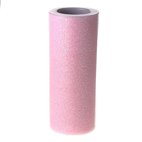 Light Pink Glitter Tulle Fabric