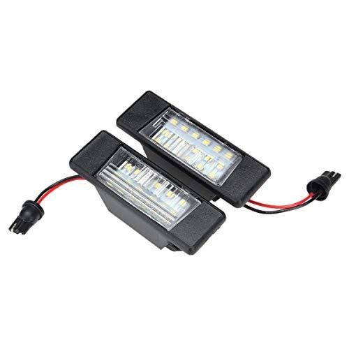 TOOGOO 2PZ Targa per Auto 18Leds Luci nel Plastica per Qashqai X-Trail Juke Primera Luminoso LED Targa Luce della Targa
