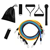 Resistance Bands Set Stackable Exercise Bands with Handles, Legs Ankle Straps, Door Anchor, Waterproof Carry Bag,Workout Guide for Resistance Training, Physical Therapy, Home Workouts,Gym Training