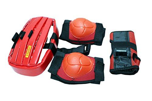 Harvey Kids 4 in 1 Protective Skating Guard Kit, Medium (Red)
