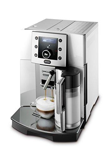 De\'Longhi Perfecta ESAM 5500.S Kaffeevollautomat (1,8 l, Digitaldisplay, Integriertes Milchsystem, Kegelmahlwerk, 13-stufiges Mahlwerk, Herausnehmbare Brühgruppe, 2-Tassen-Funktion) silber