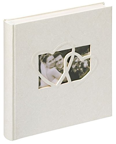 Walther Design UH-123 Hochzeitsalbum - Sweet Heart mit Ausstanzung zur persönlichen Gestaltung, 60 Seiten, 28 x 30,5 cm weiß