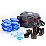 ThinkFit Insulated Meal Prep Lunch Box with 6 Food...