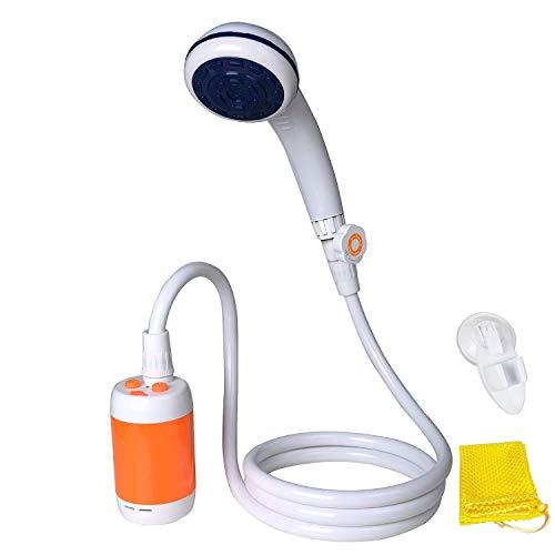 Tragbare Dusche Elektrische Dusche Camping Dusche für Zuhause oder im Freien duschen Auto waschen Pet baden Vegetation Bewässerung mit Duschkopf Absperrventil und eingebauter 4800mAh Akku