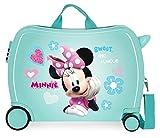 Disney Minnie Fabulous Correpasillos Maleta de Cabina Infantil Turquesa 50x39x20 cm | Equipaje de Mano, Trolley de Viaje Ryanair, Easyjet | Maleta de Viaje Fin de Semana Rígida Divertida