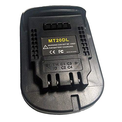 BL1830 BL1860 MT20DL Adapter Converter Charger for DeWalt Tool Convert for Makita 18V Li-ion Battery BL1830 BL1860 BL1815 to DCB200