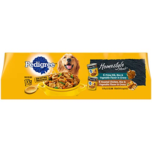 PEDIGREE Homestyle Meals Adult Canned Soft Wet Meaty Dog Food Variety Pack, (12) 13.2 oz. Cans