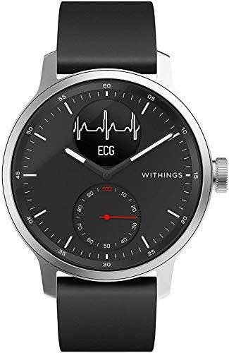 Withings ScanWatch - Reloj inteligente híbrido con ECG, tensiómetro...