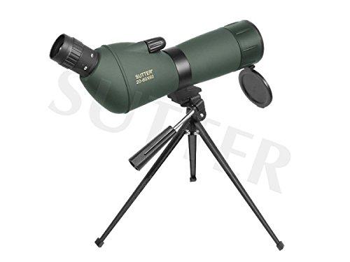 Sutter Telescopio terrestre con visor de alcance 20 y con bolsillo ocular en ángulo (sin trípode) 60X60