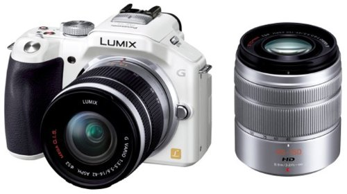 Panasonic ミラーレス一眼カメラ ルミックス G5 ダブルズームレンズキット 標準ズームレンズ/望遠ズームレンズ付属 シェルホワイト DMC-G5W-W
