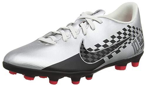Nike Men's Vapor 13 Club NJR FG/MG Chrome/Black-RED Orbit-Platinum Tint Football Shoe-10 Kids UK (AT7967-006)