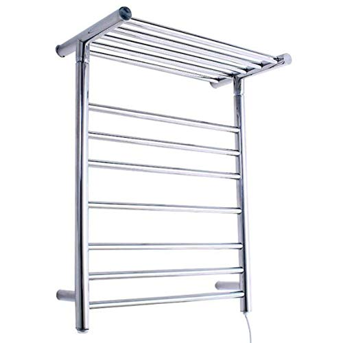 YYLVM Warmrails Wall Mounted Electric Towel Traditional Wall Mounted Or Floor Standing Towel Warmer, Nickel Finish