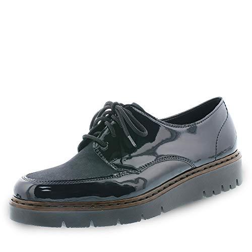 Rieker M5806, Zapatos de Cordones Derby Mujer, Azul (Marine/Atlantic 15), 41 EU