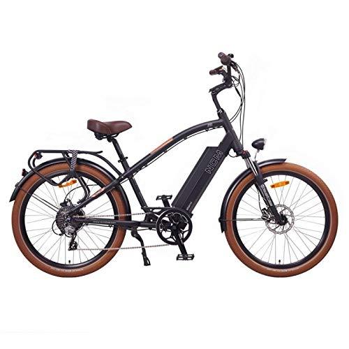 NCM Miami 26' Cruiser Retro Look E-Bike 48V 16Ah 768Wh Akku, matt schwarz