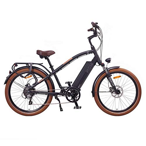 NCM Miami 26' Cruiser Retro Look E-Bike 48V 16Ah 768Wh Akku, matt schwarz
