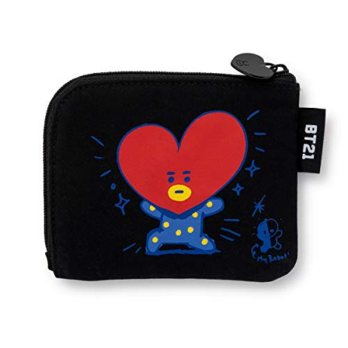 BT21 Character Small Coin Purse ID Credit Card Wallet Toiletry Pouch with Zipper