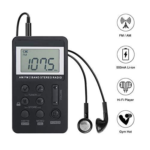 Personal AM/FM Pocket Radio Portable VR-robot, Mini Digital...