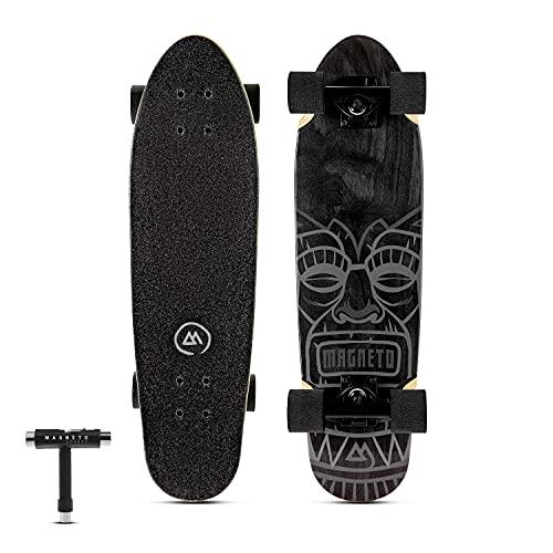 Magneto Mini Cruiser Longboard | Complete Skateboard Cruiser Board | Short Board | Canadian Maple...