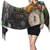 Lawenp Retromas regalo maleta bufandas hombres bufanda para hombres bufanda chal para mujeres 77 'x27' / 196x68cm grande suave pashmina extra caliente