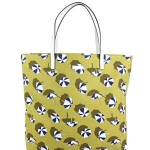 Gucci Women's Heartbit Canvas Yellow/Parasol Tote Handbag With Parasol Print 295252 7309 34