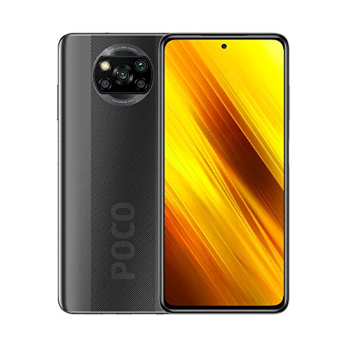 """POCO X3 NFC - Smartphone 6+128GB, 6,67"""" FHD+ cámara frontal con Punch-hole, Snapdragon 732G, 64 MP con IA, Quad-cámara, 5160 mAh, color Gris Sombra (Versión Española + 2 años de garantía)"""