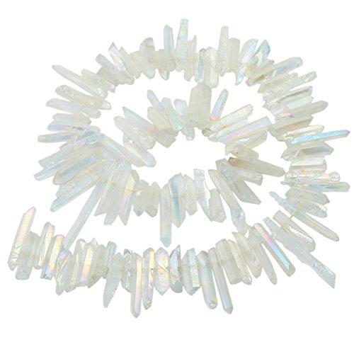 SUNYIK Angel Aura Quartz Titanium Coated Crystal Points...
