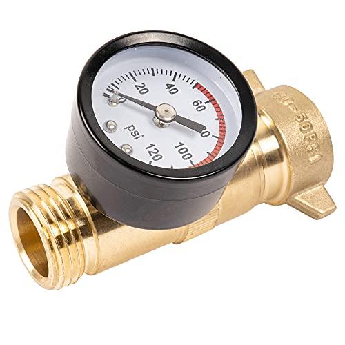Hourleey Brass Hi-Flow Pressure Water Regulator, Lead Free, RV...