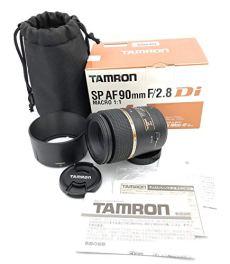 Tamron 272ENII SP AF 90 mm F/2.8 Di MACRO 1:1 - Objetivo para Nikon (distancia focal fija 90mm, apertura f/2.8, macro, diámetro: 55mm) negro