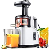 Slow Juicer AMZCHEF Slow Masticating Juicer Extractor Slow Cold Press Juicer Machine Quiet Motor Reverse Function Portable Handle Brush&Vegetable Fruit Juice Jugs BPA Free 8X11X19
