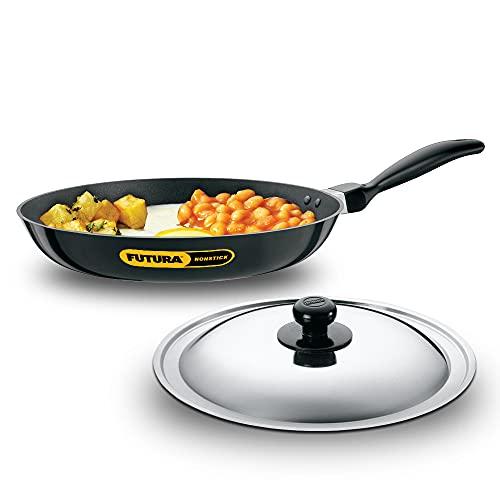 Hawkins Futura Nonstick Frying Pan with Stainless Steel Lid, Capacity 2.5 Litre, Diameter 30 cm,...