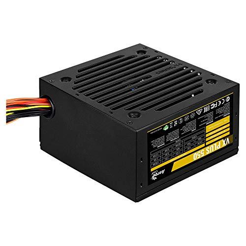 Aerocool VX Plus - Alimentatore da gioco per PC (550W, ATX, 12V, ventola 12 cm, design VX)