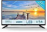 HKC 32C9A 80 cm (31.5 Pouces) LED téléviseur (HD Ready, Triple Tuner DVB-T2 / T/C / S2 / S, CI+, Lecteur multimédia Via Port USB) [Classe énergétique A]