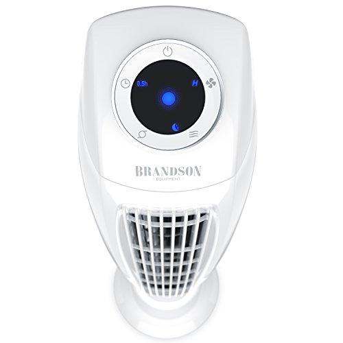 Brandson - Turmventilator mit Fernbedinung - Säulenventilator inkl. Oszillation - 86 cm - 60W - 3 Geschwindigkeitsstufen LOW MEDIUM HIGH Timer - LED Display - leises Betriebsgeräusch - weiß
